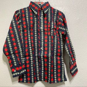 ☘️SKYR patterned ski shirt boys Size L NWT